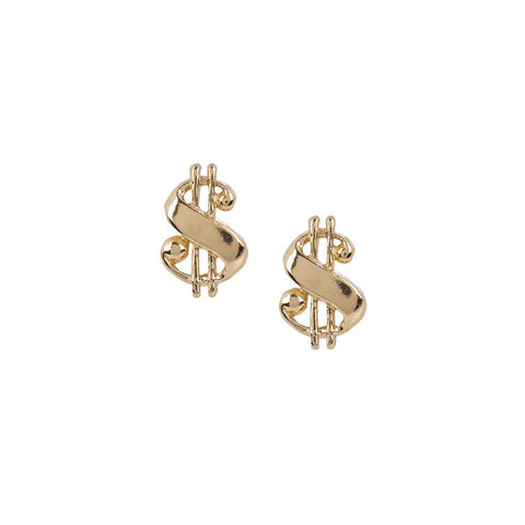 Baller Money Sign Studs - Bing Bang Jewelry NYC