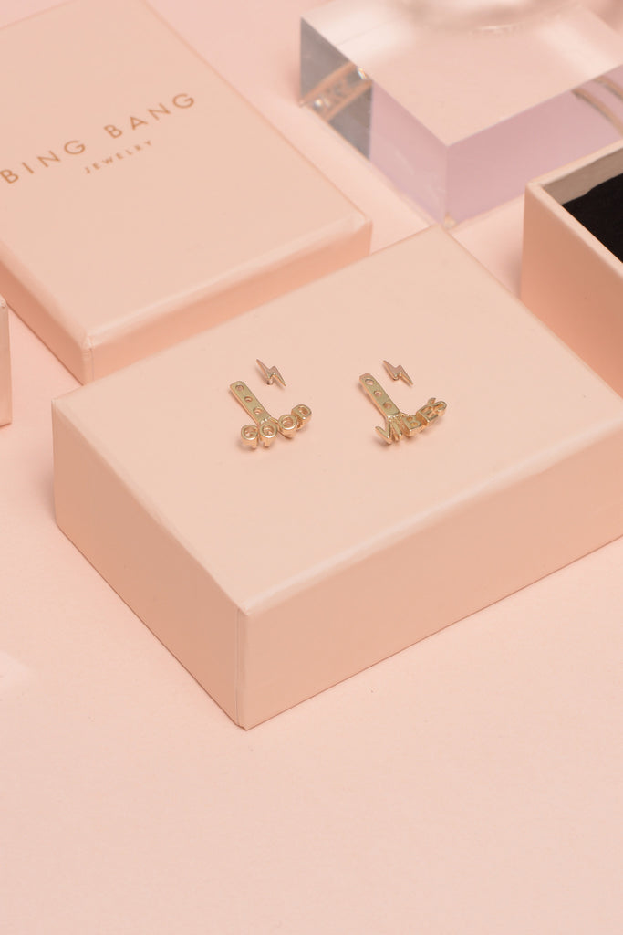 Good Vibes Earring Jackets (BB x Ban.do) - Bing Bang Jewelry NYC