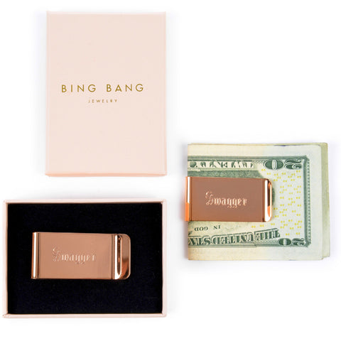 Rose Gold Money Clip - Bing Bang Jewelry NYC