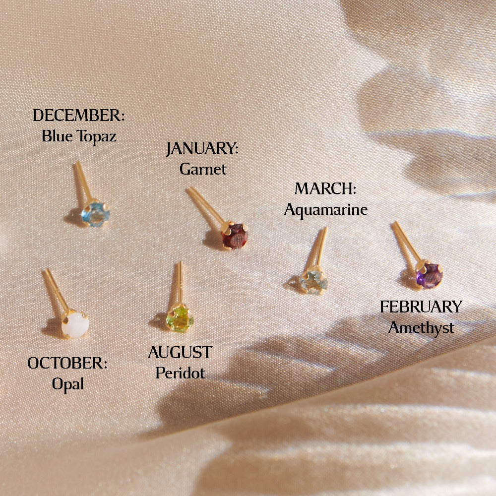 ✨ PREORDER ✨14k Tiny Birthstone Studs - Bing Bang Jewelry NYC