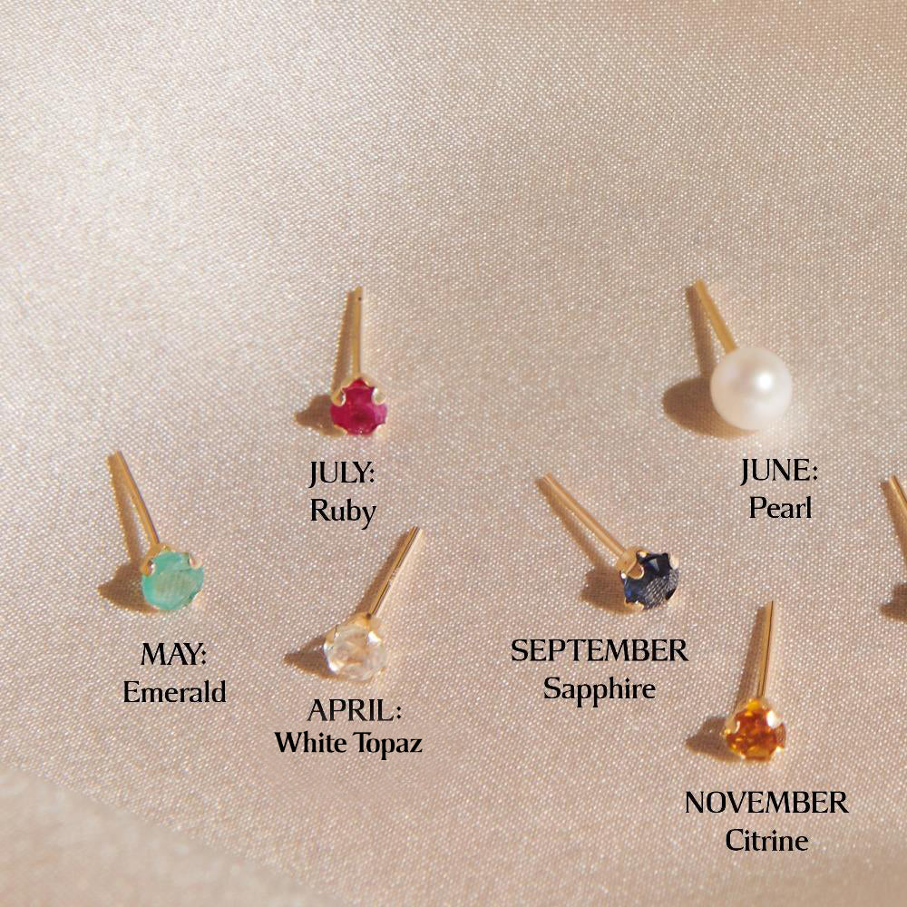 ✨14k Tiny Birthstone Studs✨