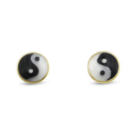 Tiny Yin Yang Studs - Bing Bang Jewelry NYC