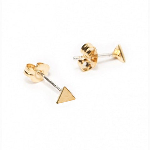 ✨14k Tiny Triangle Stud - Bing Bang Jewelry NYC