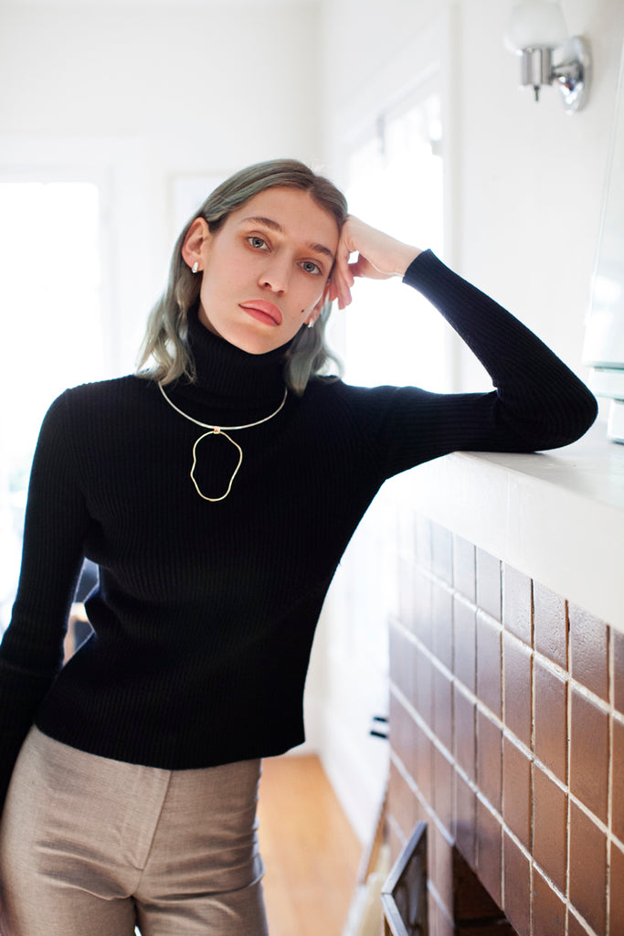 Aalto Outline Collar - Bing Bang Jewelry NYC
