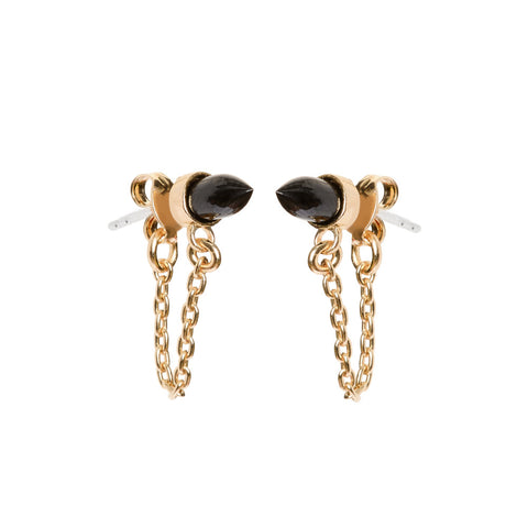 Gemstone Continuous Earrings - Bing Bang Jewelry NYC