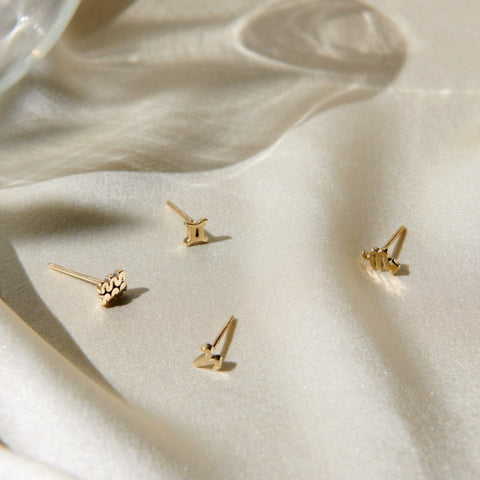 ✨14k Tiny Zodiac Studs - Bing Bang NYC