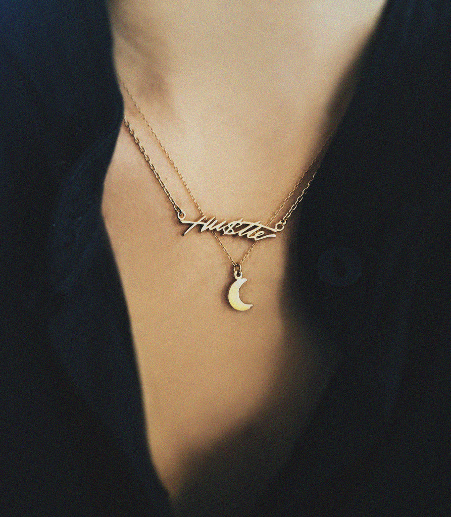 Little Moon Necklace - Bing Bang NYC - 5