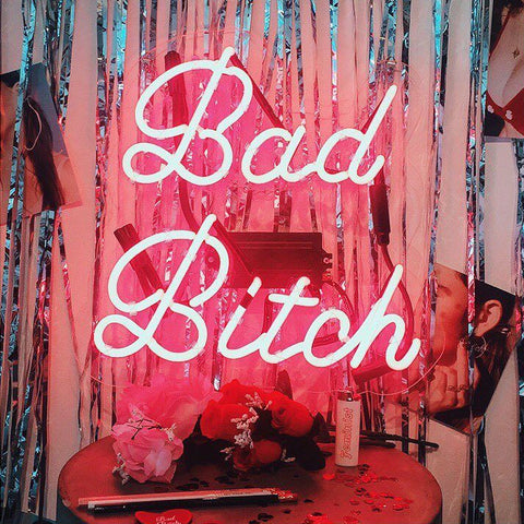 Bad Bitch Neon Art Sign