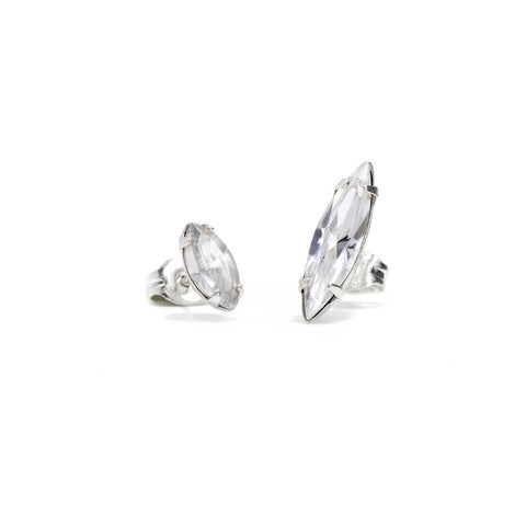 Crystal Shard Duet - Clear Crystal - Bing Bang Jewelry NYC