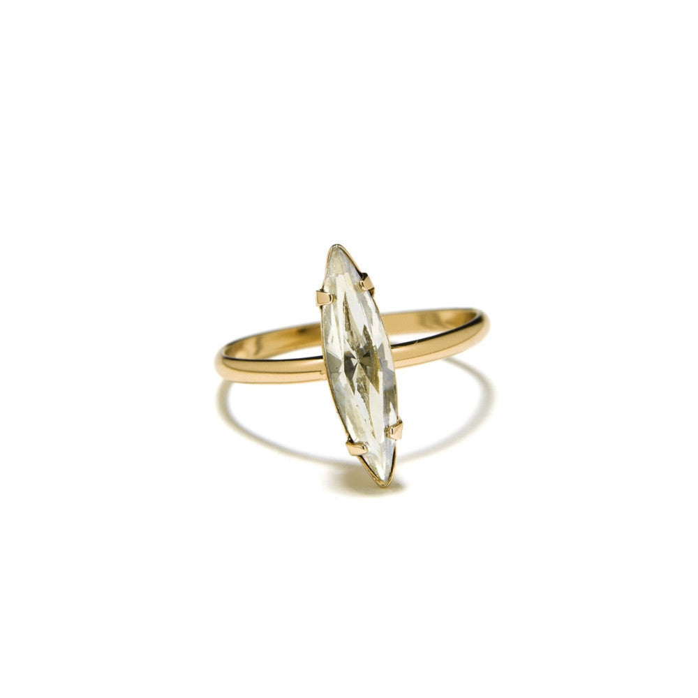 Crystal Shard Ring - Clear Crystal - Bing Bang Jewelry NYC