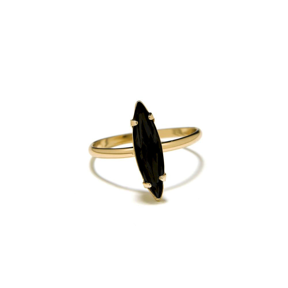 Crystal Shard Ring - Jet Crystal - Bing Bang Jewelry NYC