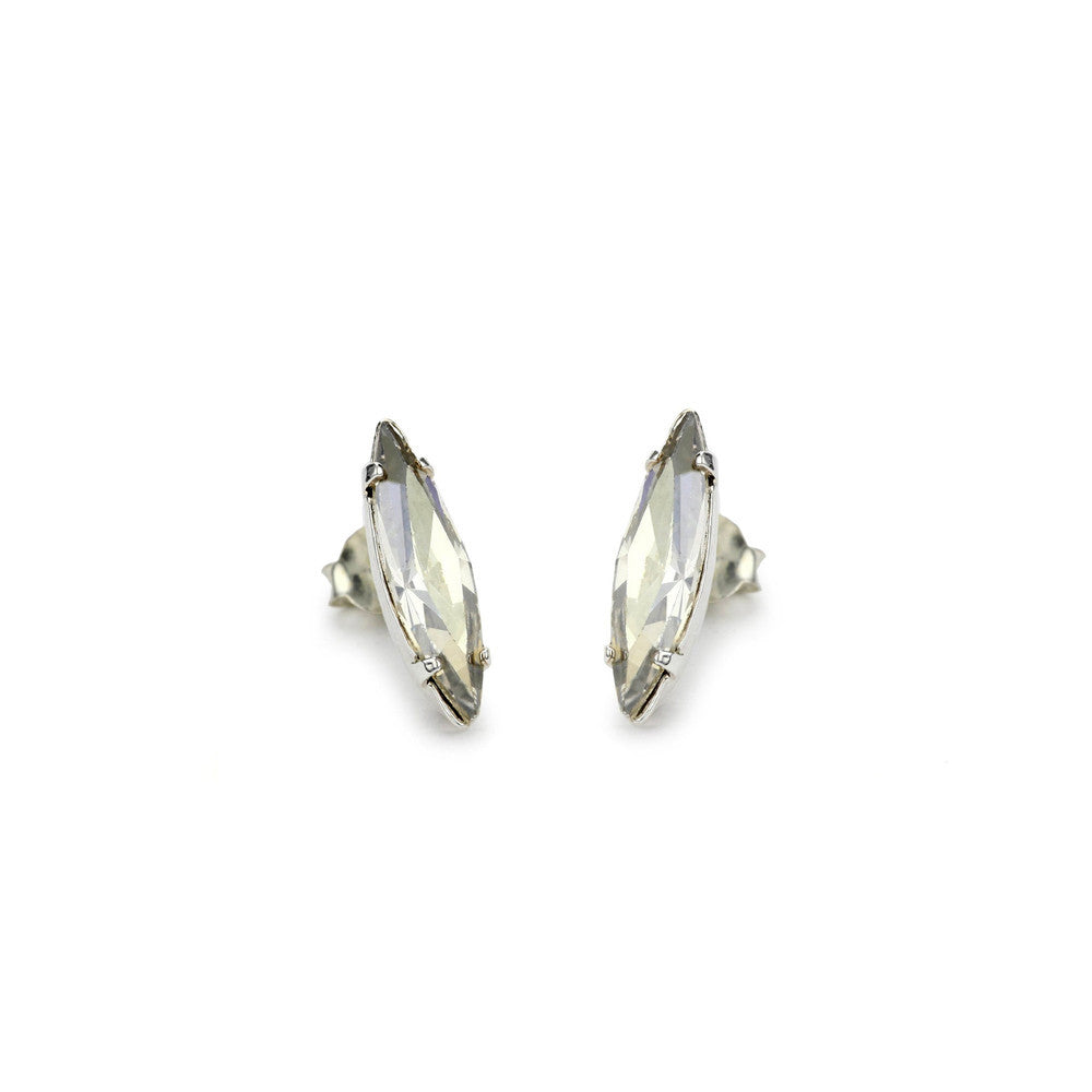 Crystal Shard Studs - Clear Crystal - Bing Bang Jewelry NYC