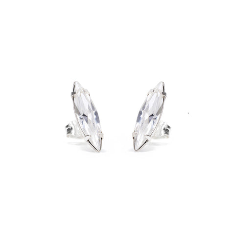 Crystal Shard Studs - Clear Crystal - Bing Bang NYC
