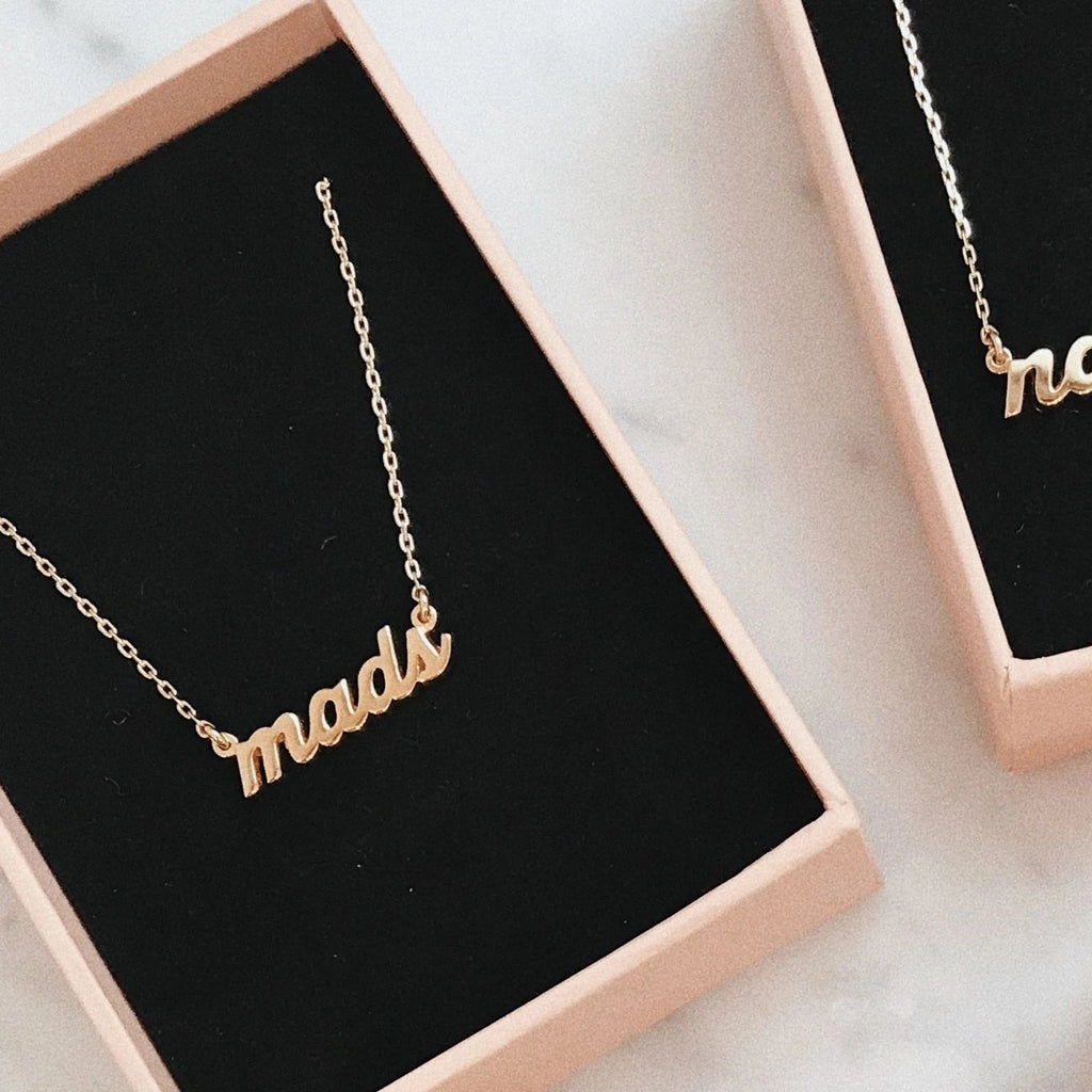 14K✨Custom Nameplate - SCRIPT - Bing Bang Jewelry NYC