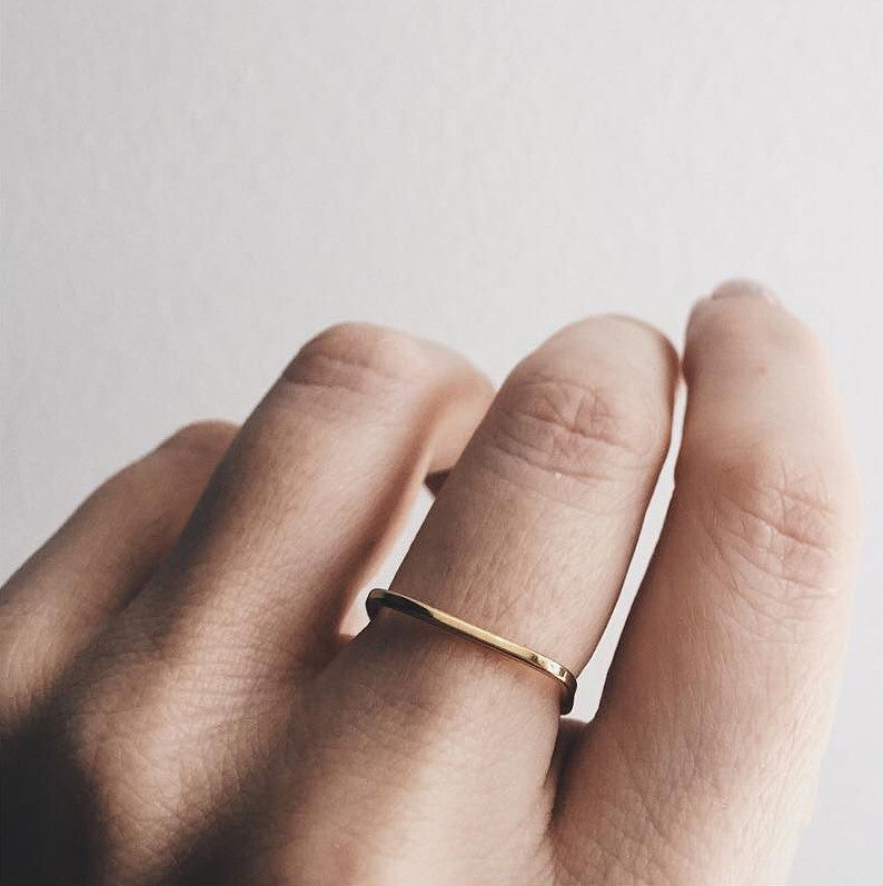 Delicate Square Band - Bing Bang Jewelry NYC