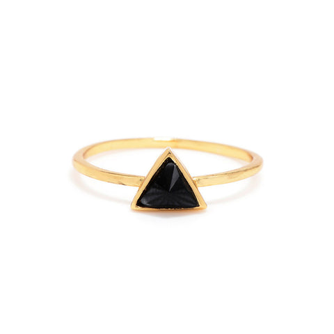 Delta Bezel Ring - Bing Bang Jewelry NYC