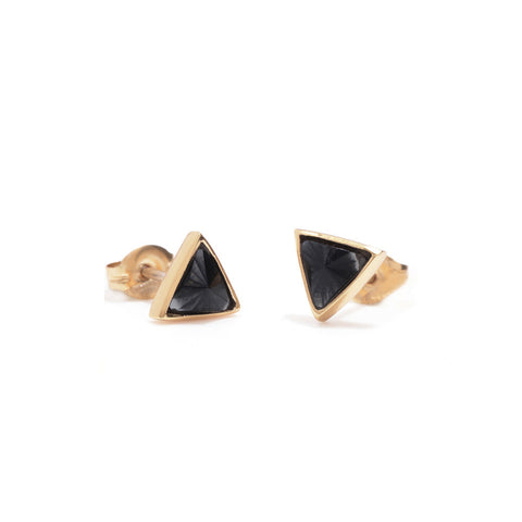 Delta Bezel Studs - Bing Bang Jewelry NYC