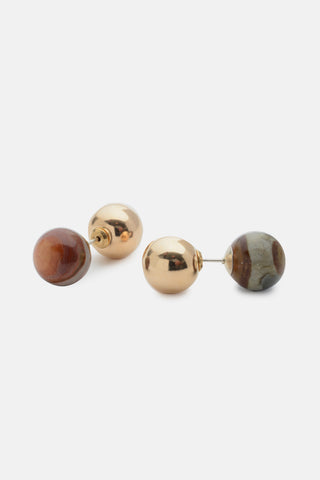 Dual Sphere Earring Set - Large - Bing Bang Jewelry NYC