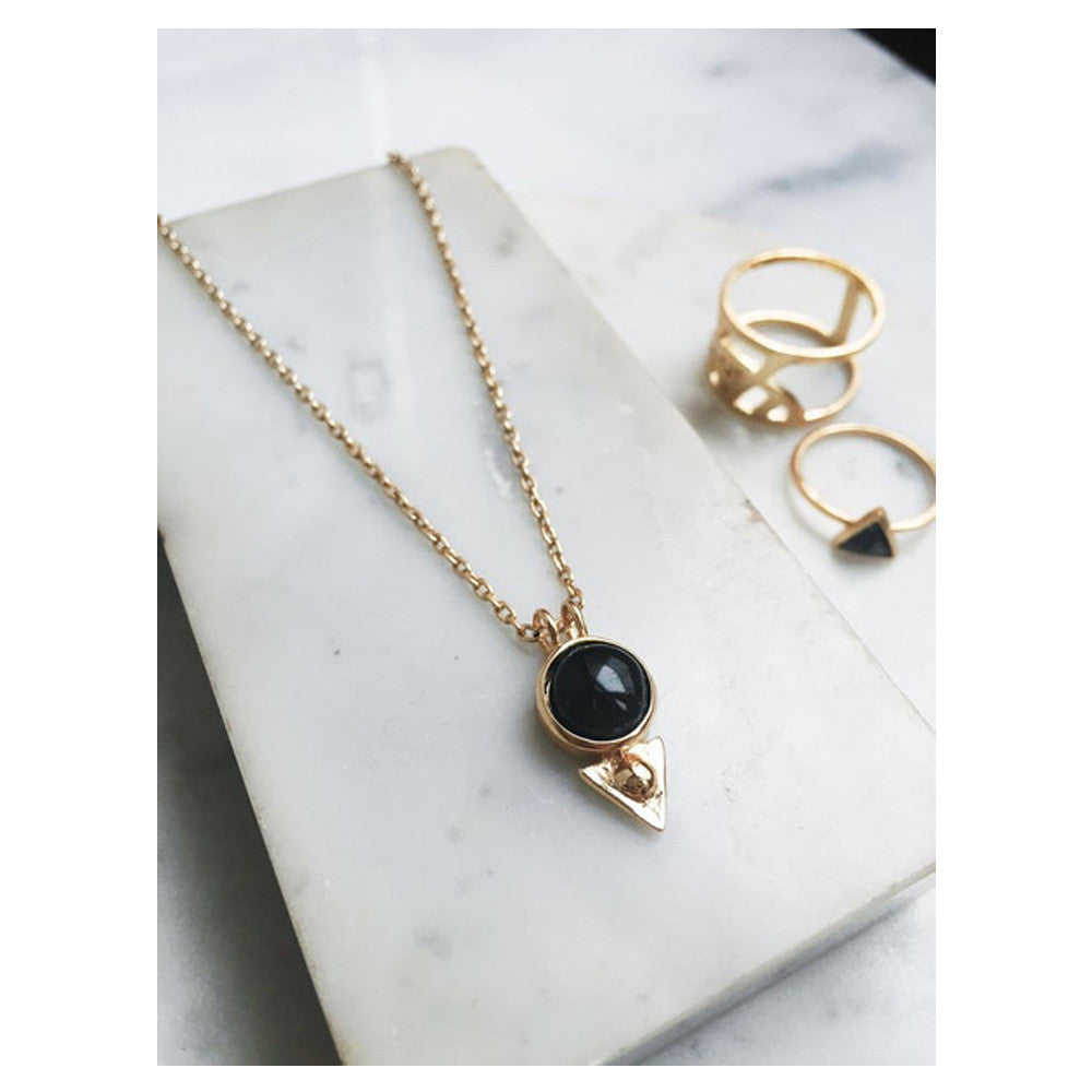 Earth Amulet Necklace - Onyx - Bing Bang NYC - 6