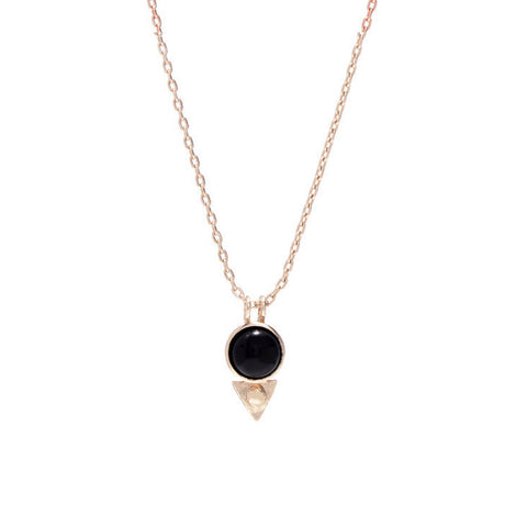 Earth Amulet Necklace - Onyx - Bing Bang NYC - 3