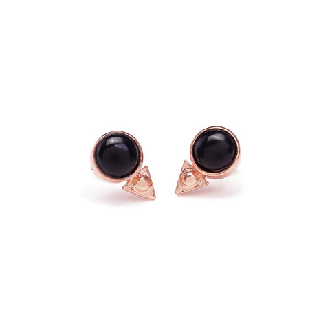 Earth Amulet Studs - Onyx - Bing Bang Jewelry NYC