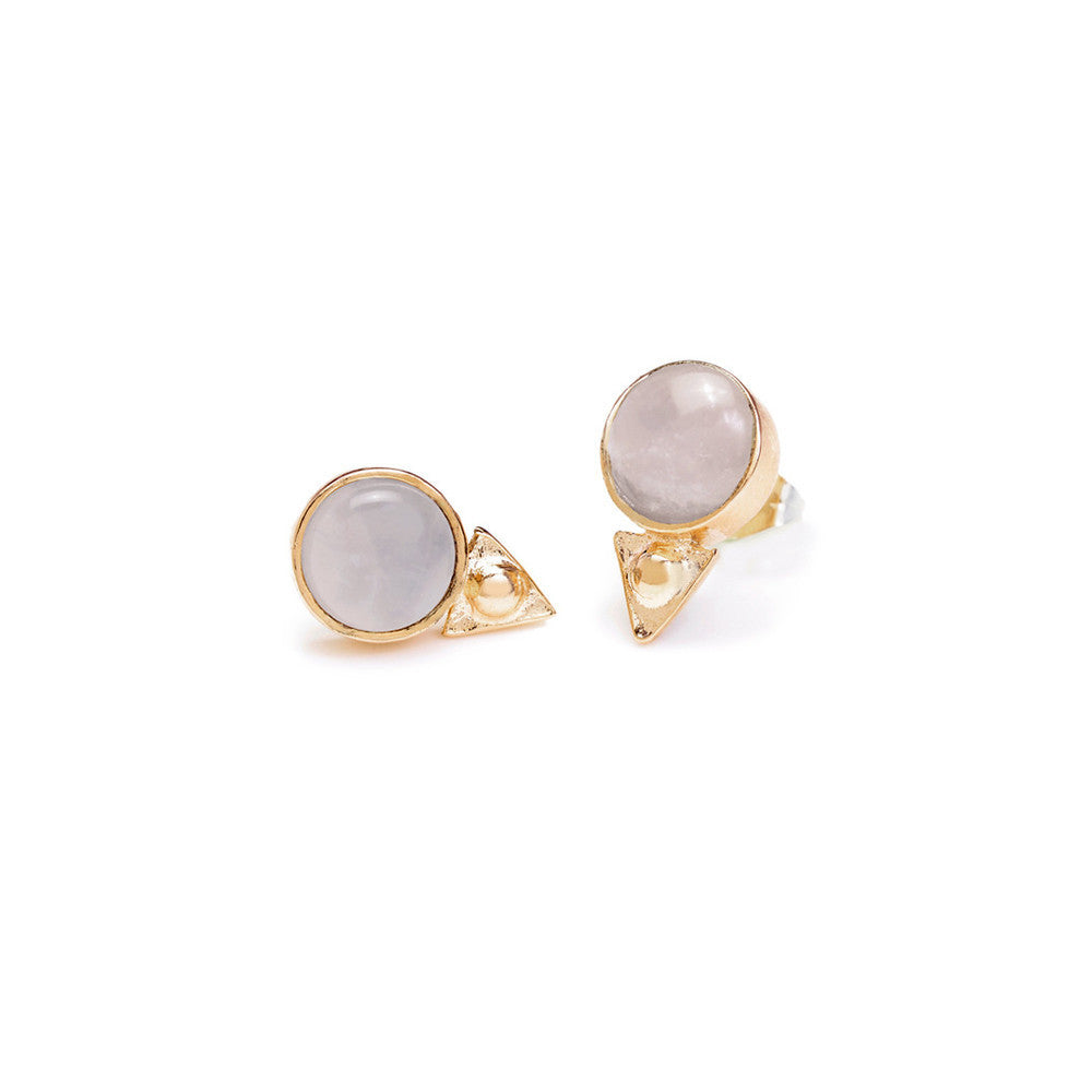 Earth Amulet Studs - Moonstone - SALE - Bing Bang NYC - 1