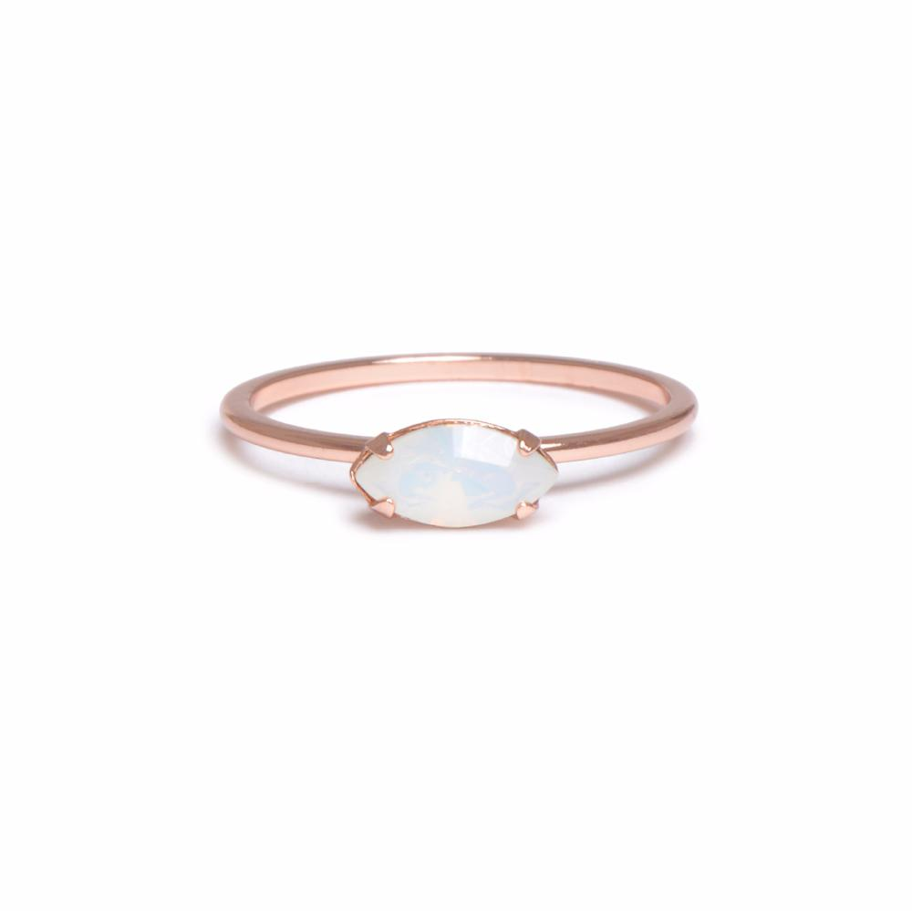East West Marquis Ring - Opal - Bing Bang Jewelry NYC