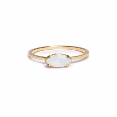 East West Marquis Ring - Opal