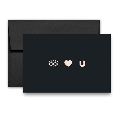 EYE HEART U - Greeting Card