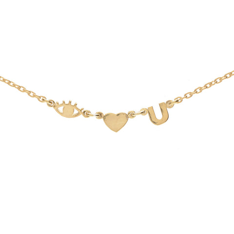 Eye Heart U Necklace - Bing Bang Jewelry NYC