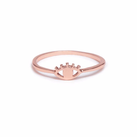 Eye Ring- Rose Gold - Bing Bang Jewelry NYC