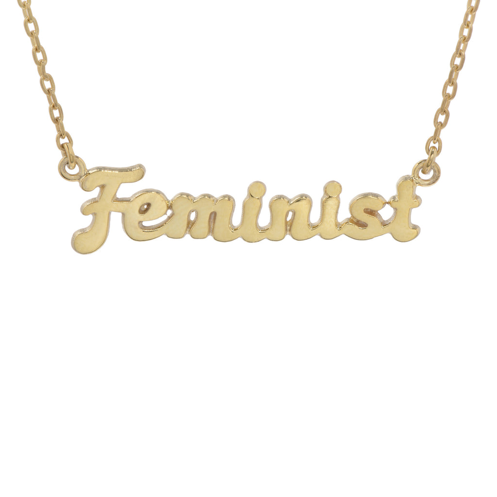 ✨14k Feminist Necklace (BB x Me & You) - Bing Bang Jewelry NYC