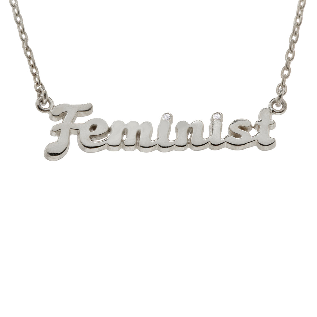 e58ca4c96 Feminist Necklace - Diamond Accents (BB x Me & You) – Bing Bang NYC