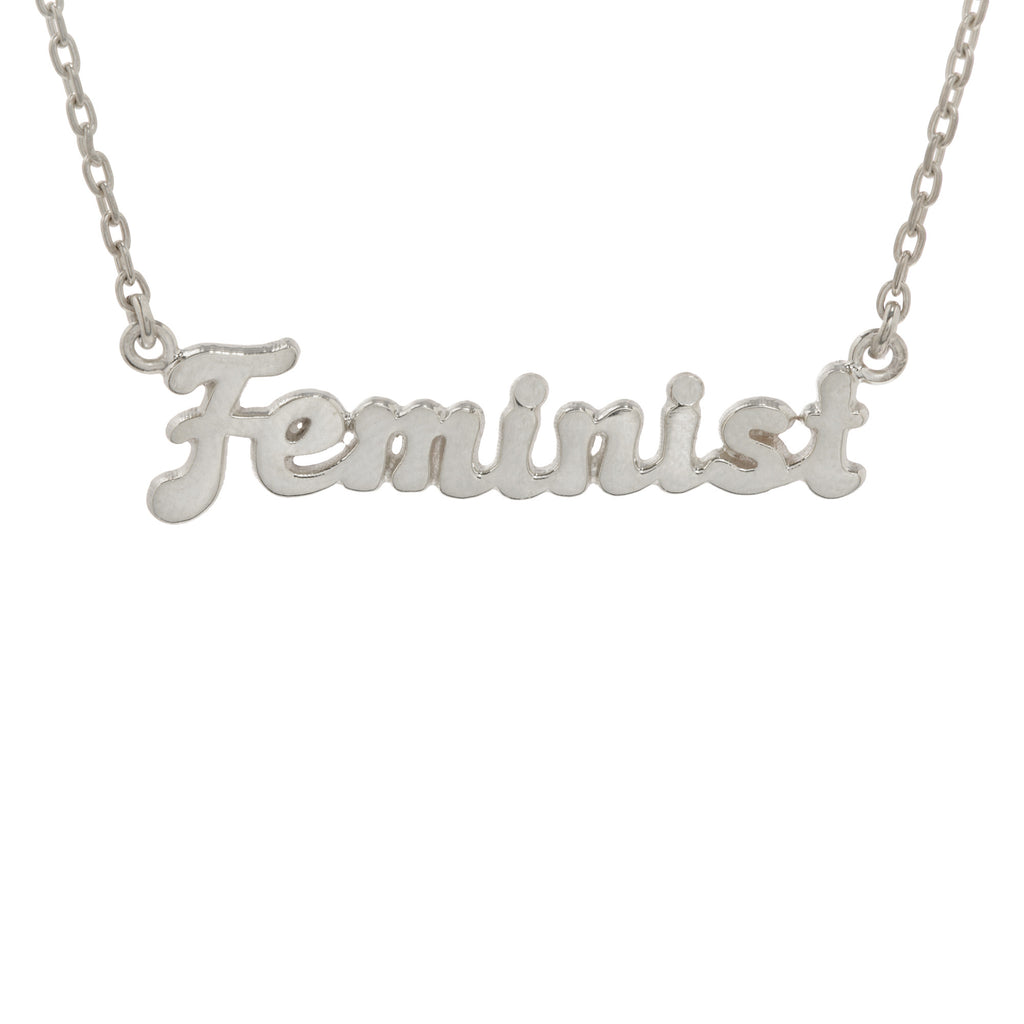 ✨14k Feminist Necklace (BB x Me & You) - Bing Bang NYC