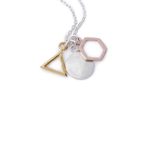 Geo Charm Pendant Necklace - Bing Bang NYC - 1