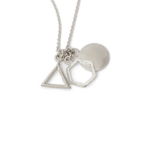Geo Charm Pendant Necklace Bing Bang Nyc