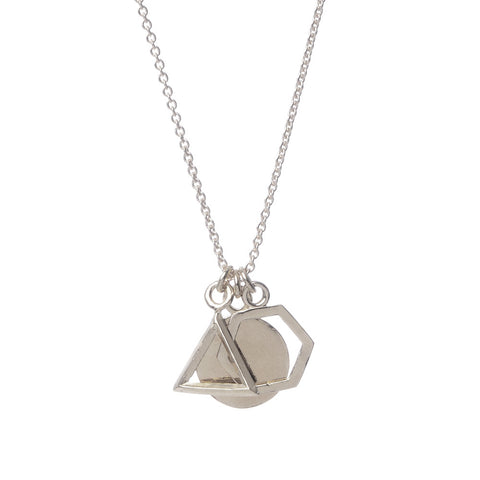 Geo Charm Pendant Necklace