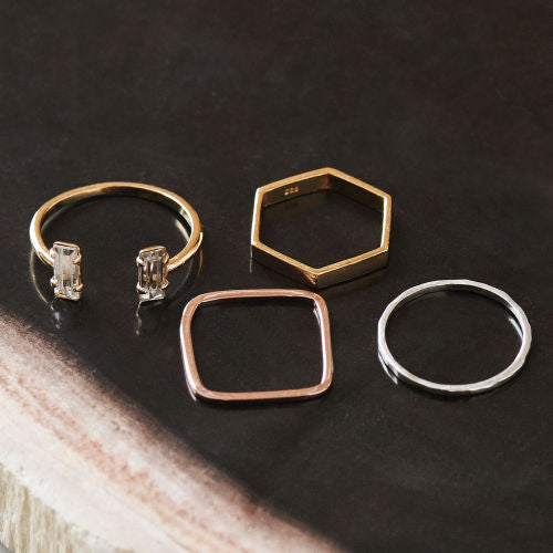Geometric Ring Set - Bing Bang NYC - 8