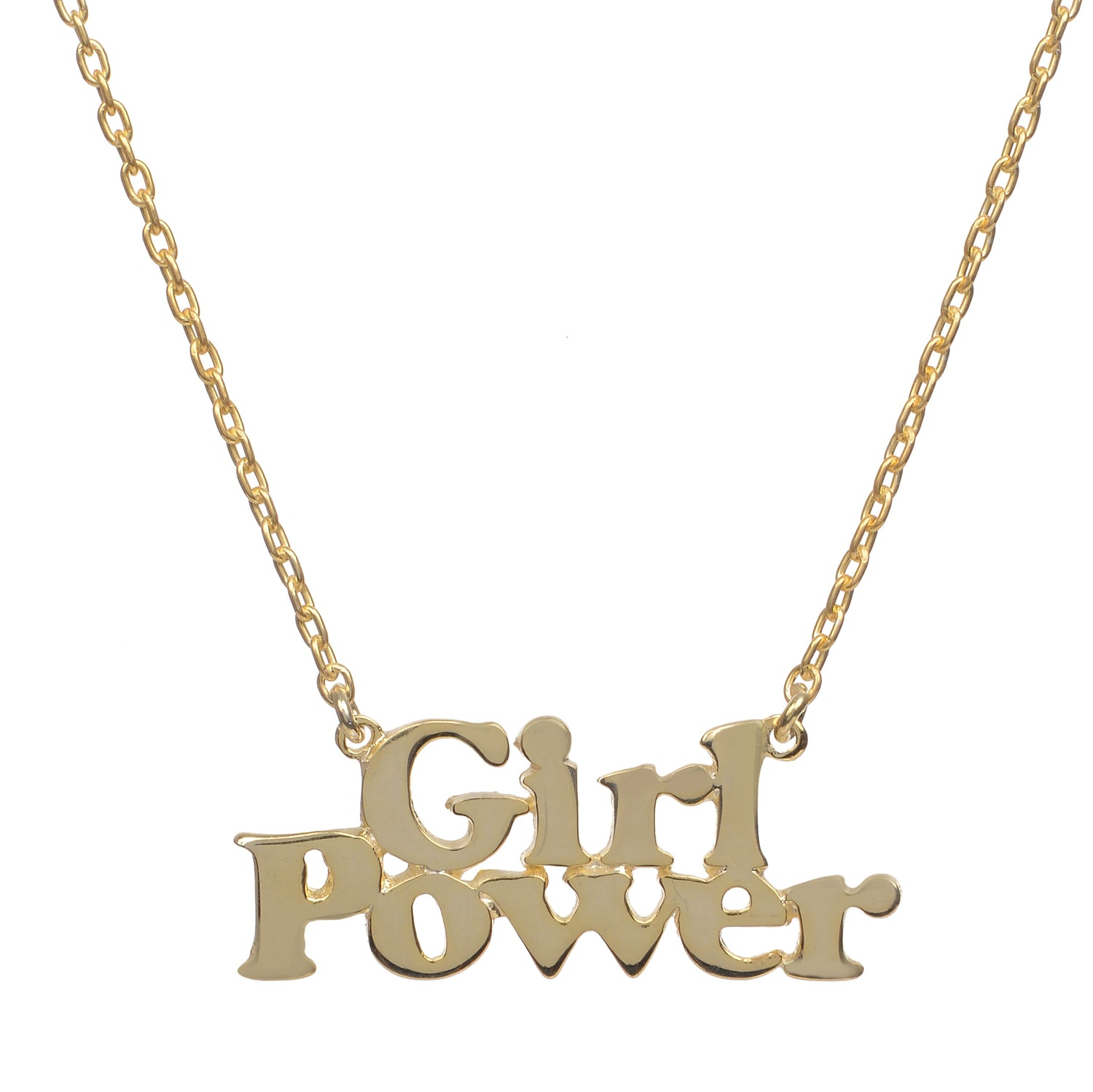 Girl Power Necklace - Bing Bang Jewelry NYC