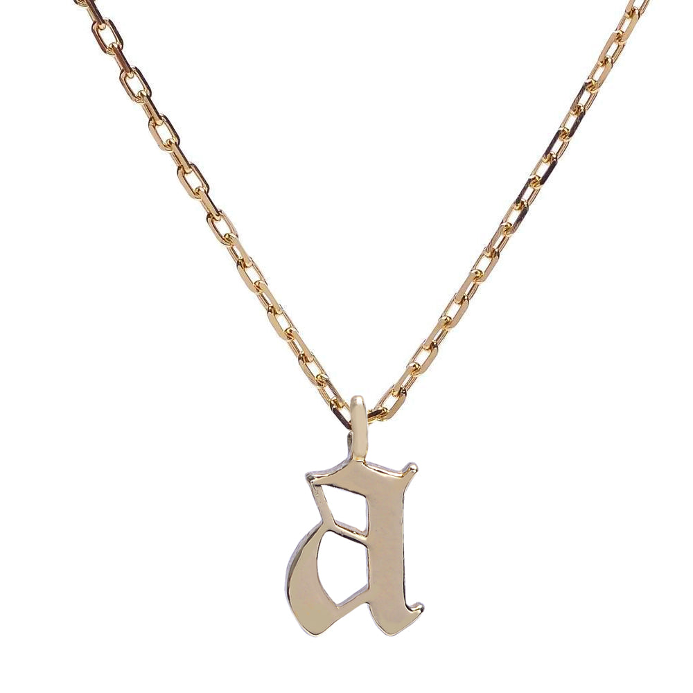 Goth Initial Necklace – Bing Bang NYC
