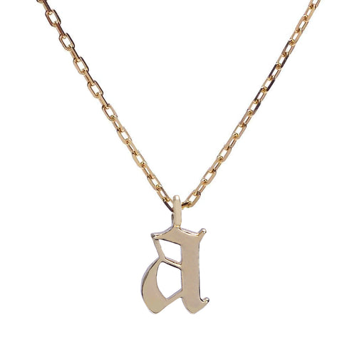 Goth Initial Necklace - Bing Bang Jewelry NYC