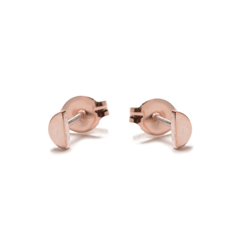 Half Moon Studs-Rose Gold - Bing Bang Jewelry NYC