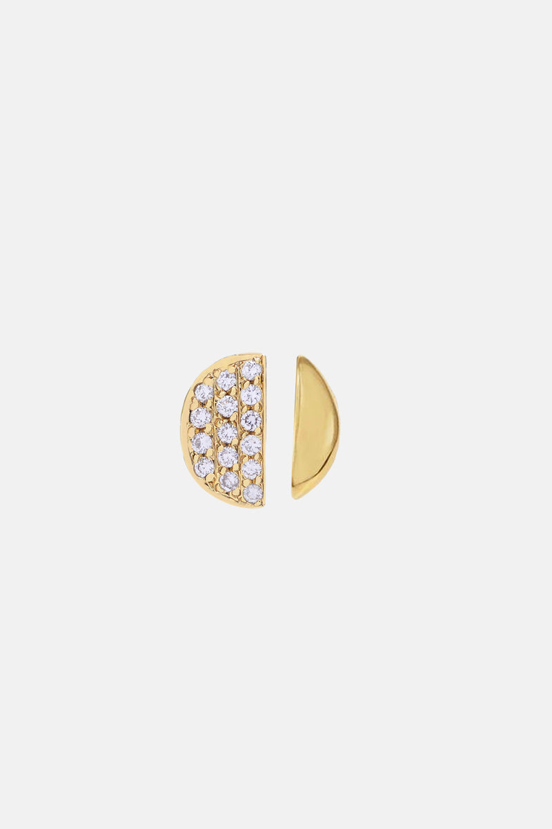 Diamond Pavé Moon Phases Earring Duet - Bing Bang Jewelry NYC