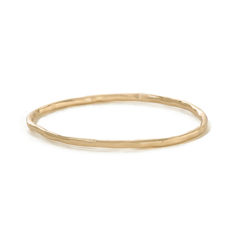 Classic Hammered Bangle - Bing Bang Jewelry NYC