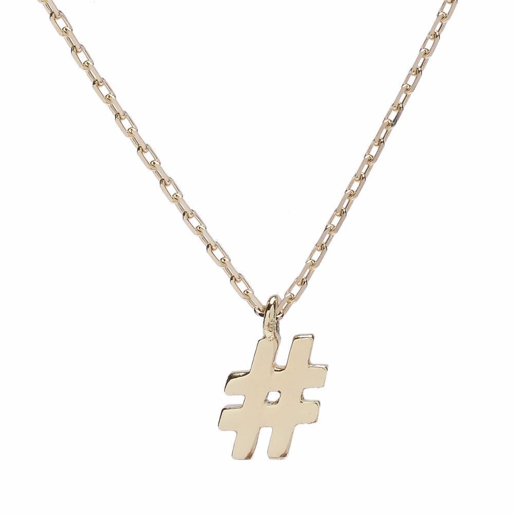 # Hashtag Necklace - Bing Bang Jewelry NYC