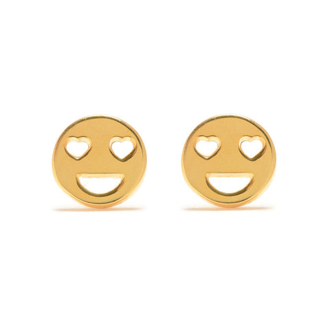 Heart Eye Button Studs - Bing Bang Jewelry NYC