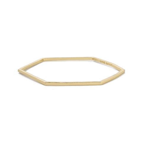 Slim Hexagon Bangle - Bing Bang Jewelry NYC