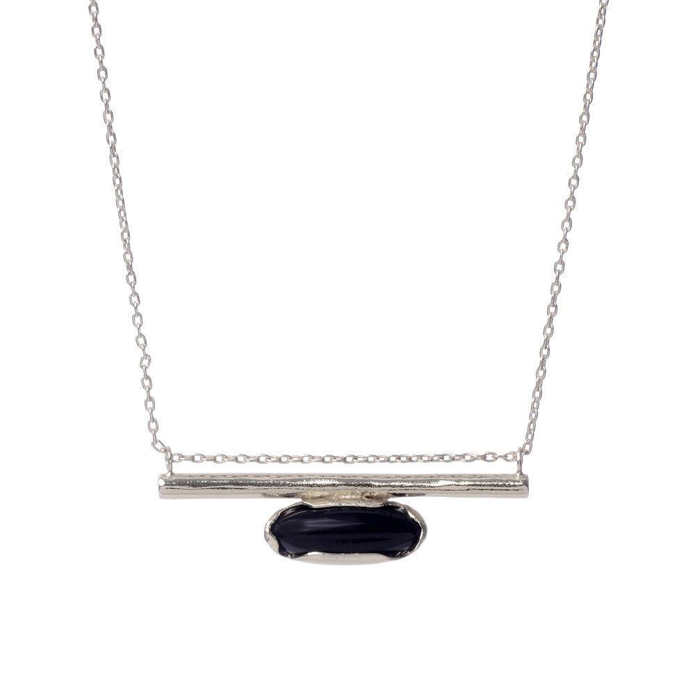 Horizon Line Necklace - Silver - Bing Bang NYC - 2