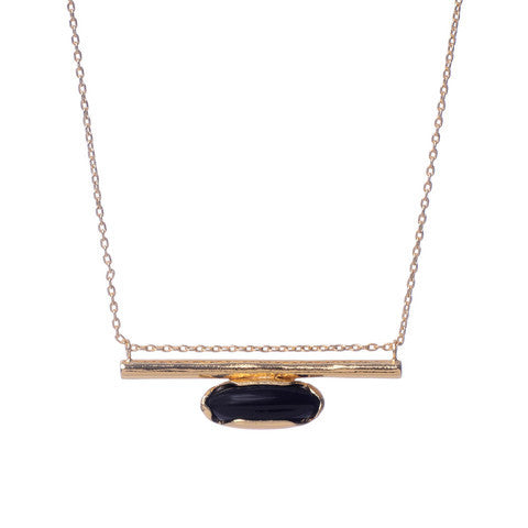 Horizon Line Necklace - Gold - Bing Bang NYC - 2