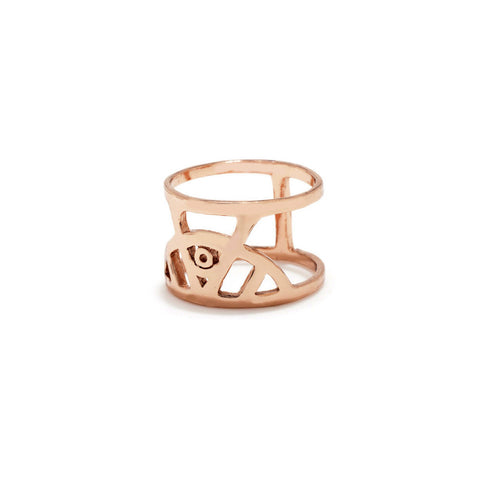 Illuminated Eye Ring - Gold - Bing Bang NYC - 1
